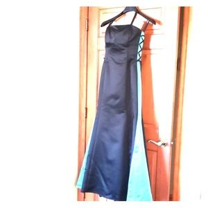 Satin evening gown by Jessica Mccklintock